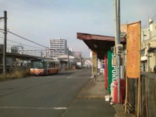 上福岡駅東口のバス乗り場
