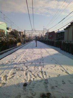 今朝の西武線